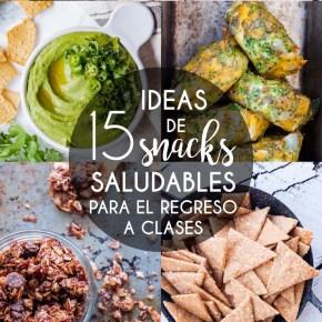 15 IDEAS DE SNACKS SALUDABLES PARA EL REGRESO A CLASES