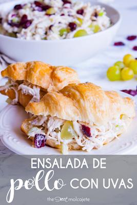 Aprende a hacer esta fresca y cremosa Ensalada de Pollo con Uvas con esta receta fácil, perfecta para una tarde de picnic este verano.