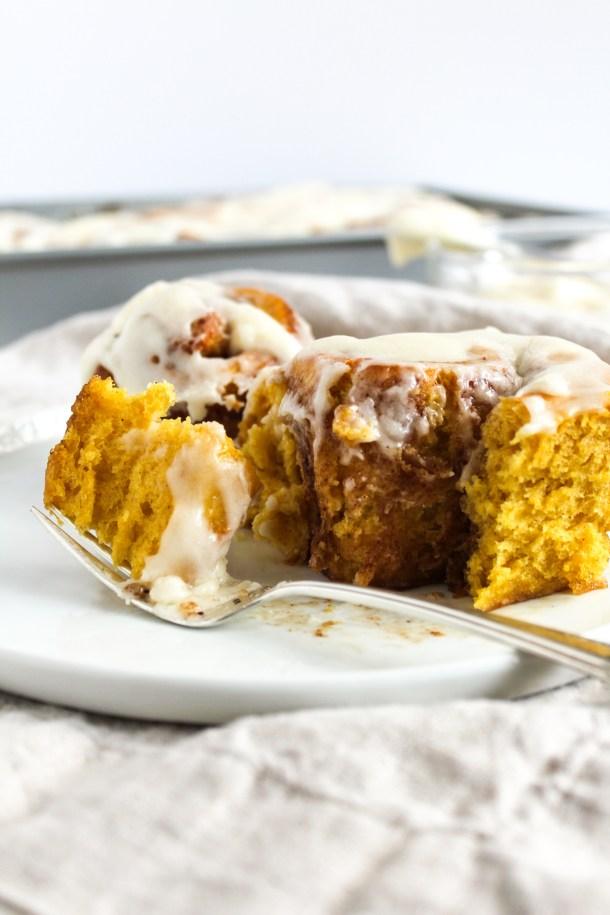 Pumpkin Cinnamon Rolls-7