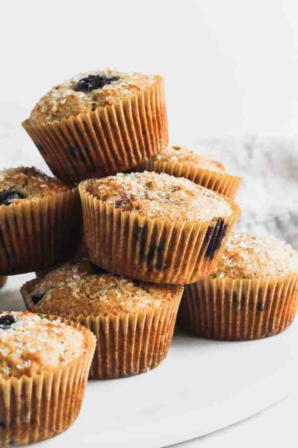 Whole Wheat Blueberry Muffins-3