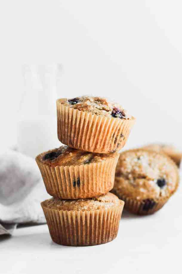 Whole Wheat Blueberry Muffins-5