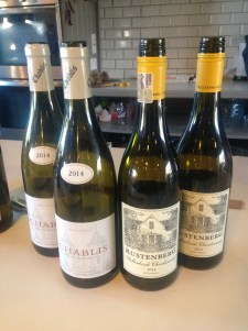 The two contrasting chardonnays we tasted