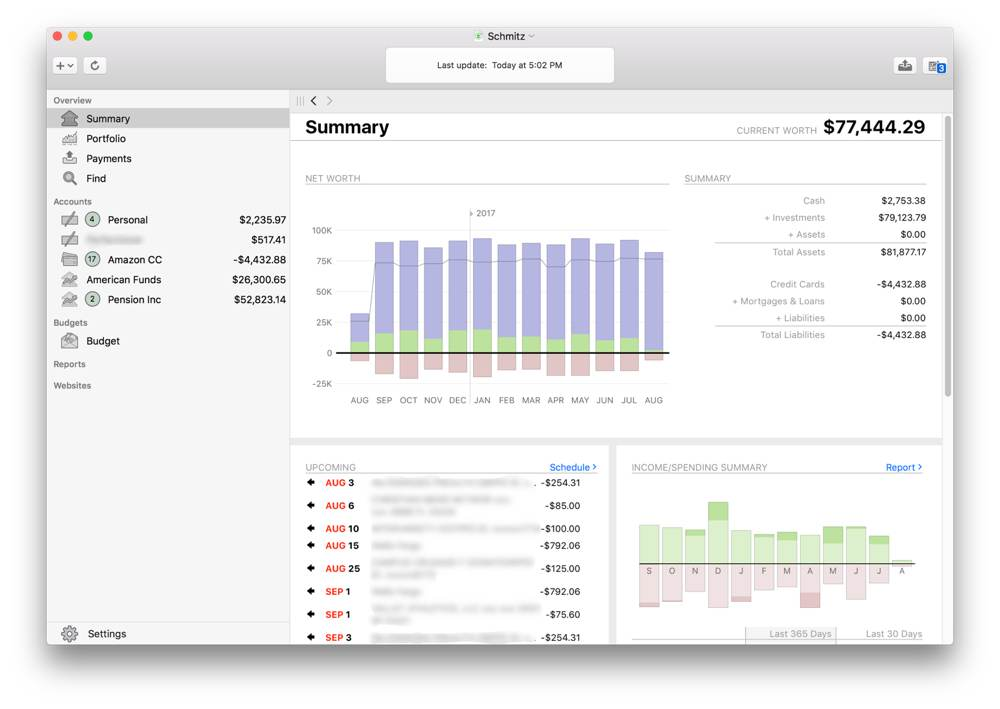 Banktivity: the best app for managing personal finances and budgets