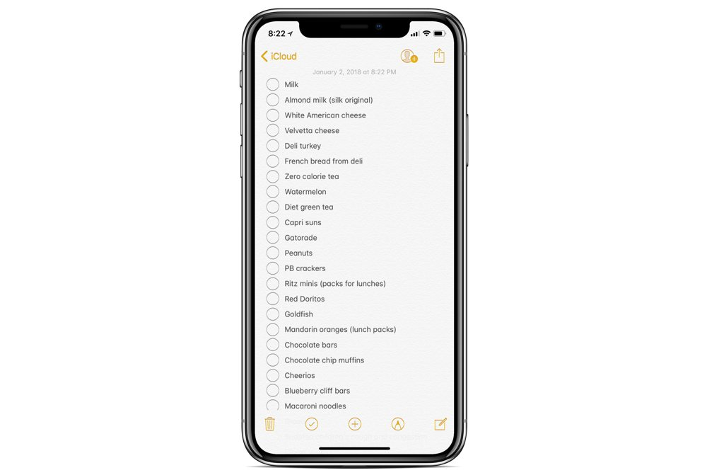 How to convert a message into a checklist in Apple Notes