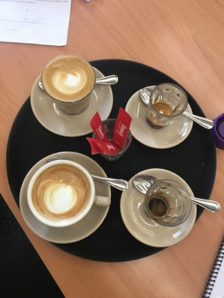 My four coffees