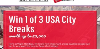 Win 1 of 3 USA City Breaks with Virgin Holidays