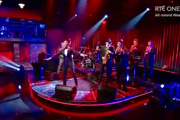 The Swing Cats performing at the late late show