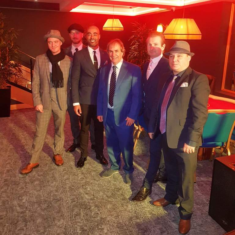 The Swing Cats performe at the Carlton Casino Club in O'Connell Street  with The legend Chris de burgh