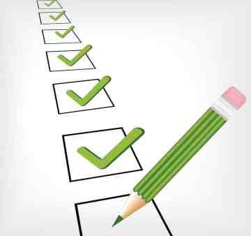 vector image of a checklist