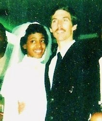 Frank and Sandra Robinson on their wedding day.