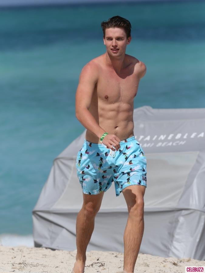 Shirtless Patrick Schwarzenegger Caught Shirtless And