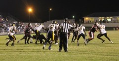 The defense stops Columbia High's offense. File photo.