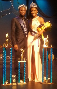 2017 Miss and Mr. Keenan, Seniors Keyona Peters and John Richmond. File photo.