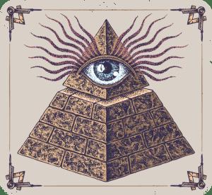 pyramid, eye