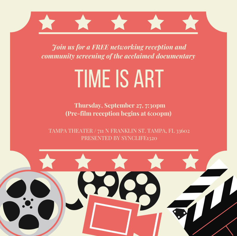tampa, time is art, screening, tampa palace, sept 27