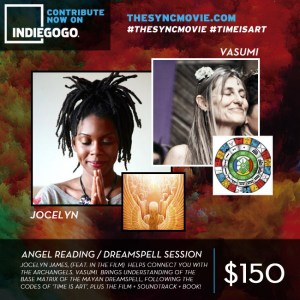 time is art, angel card reading, Jocelyn james, mayan dreamspell session, crowdfunding