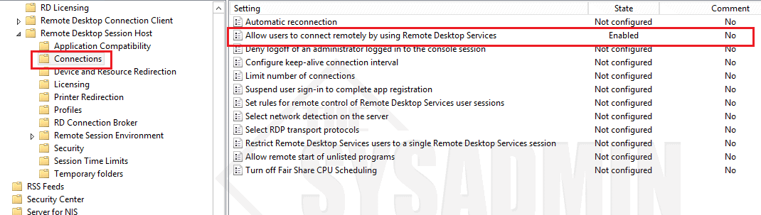 How To Enable Remote Desktop Via Group Policy (GPO) - the