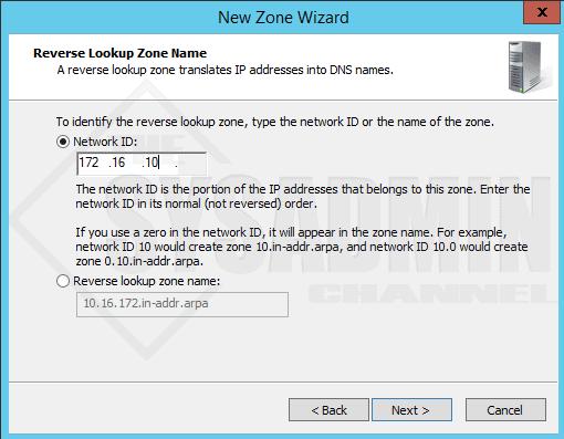 Reverse Lookup Zone Name