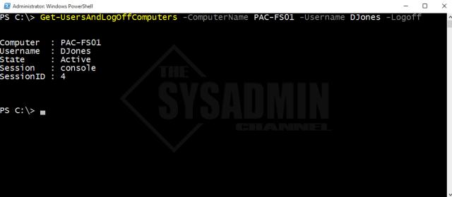 Get-UsersAndLogOffComputers-ComputerName-Username-LogOff