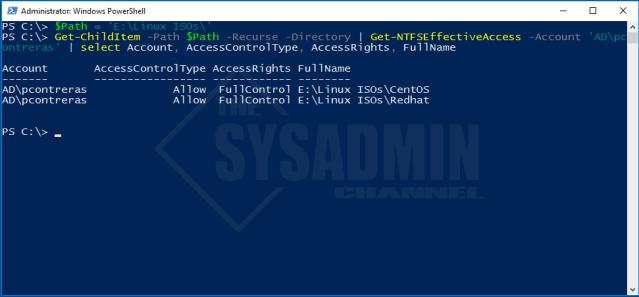 Get-NTFSEffectiveAccess -Account Username