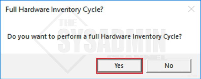 Do you want to perform a full hardware sync