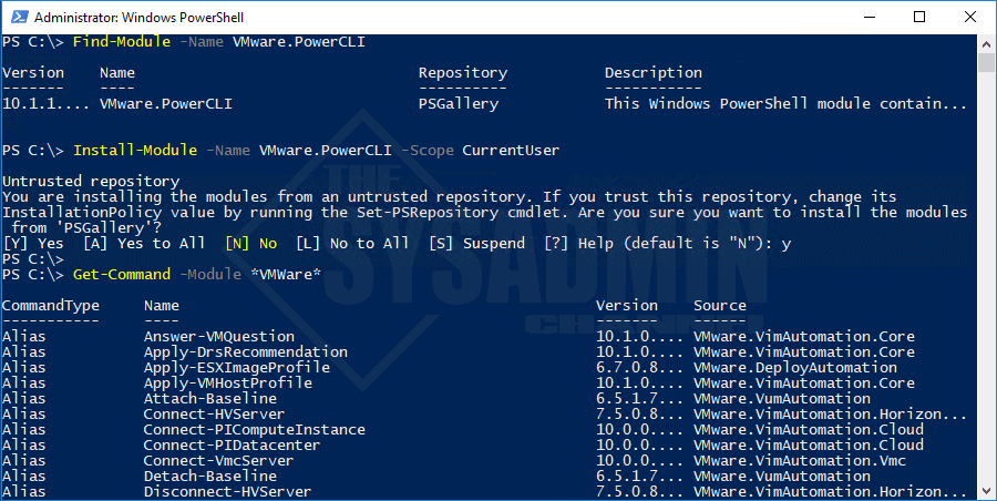 How To Install VMware PowerCLI Module using Powershell