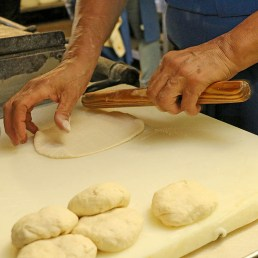 Delores Mendez shapes tortillas. Brianna Rodrigue / Special to The Tacoist