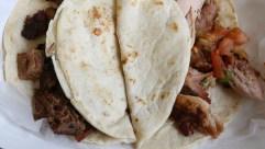 Smoked brisket and chicken tacos