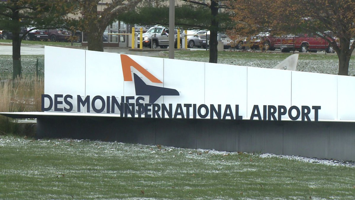 The Des Moines International Airport provides easy access home to Des Moines for native Iowans who have moved away. (Photo courtesy of WHO-TV)