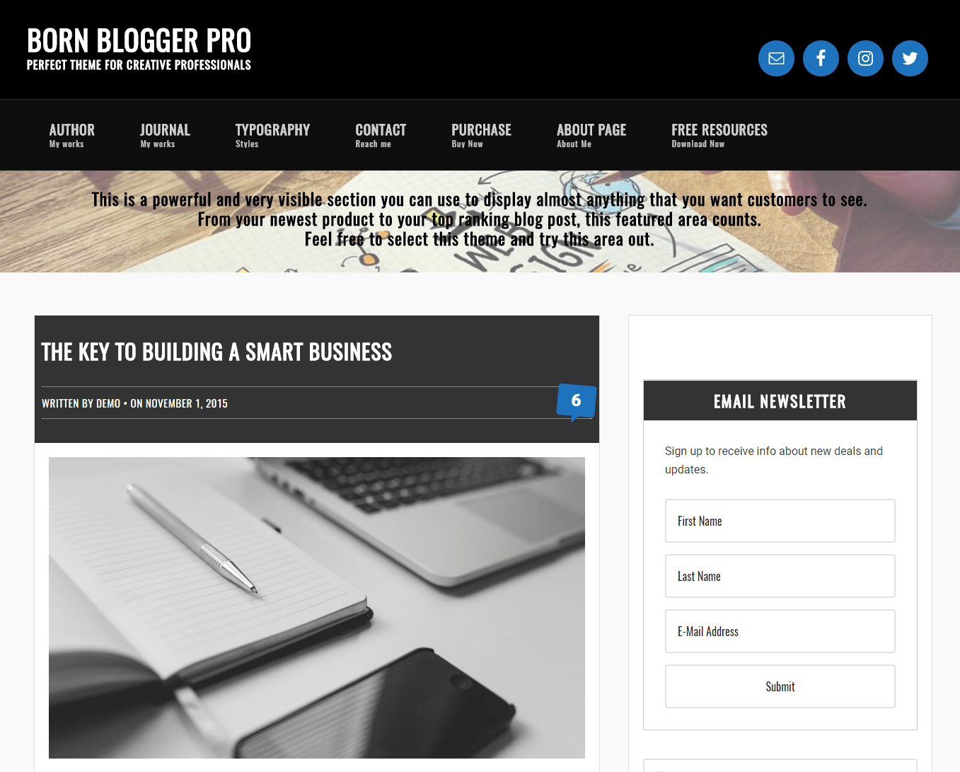 Get a free website with Born Blogger Pro by Abdul Samad Essani on Talenthost