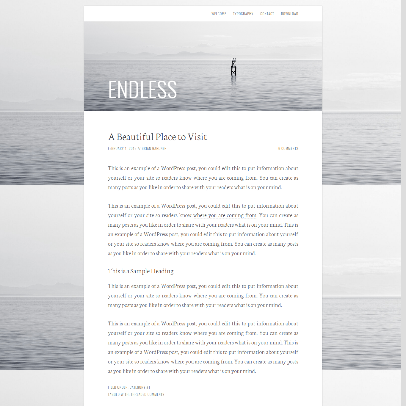 Get a free website with Endless by Brian Gardner on Talenthost