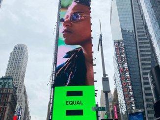 Meryl affichée en plein Times Square à New-York