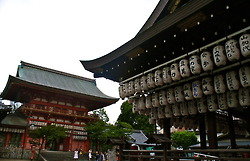 Beautiful lanterns at the Yasaka Shrine
