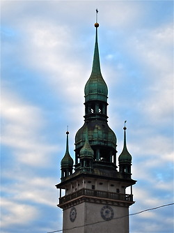 Old Town Hall Tower in Brno, Czech Republic