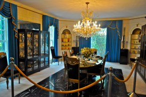 The dining area when you step into the foyer