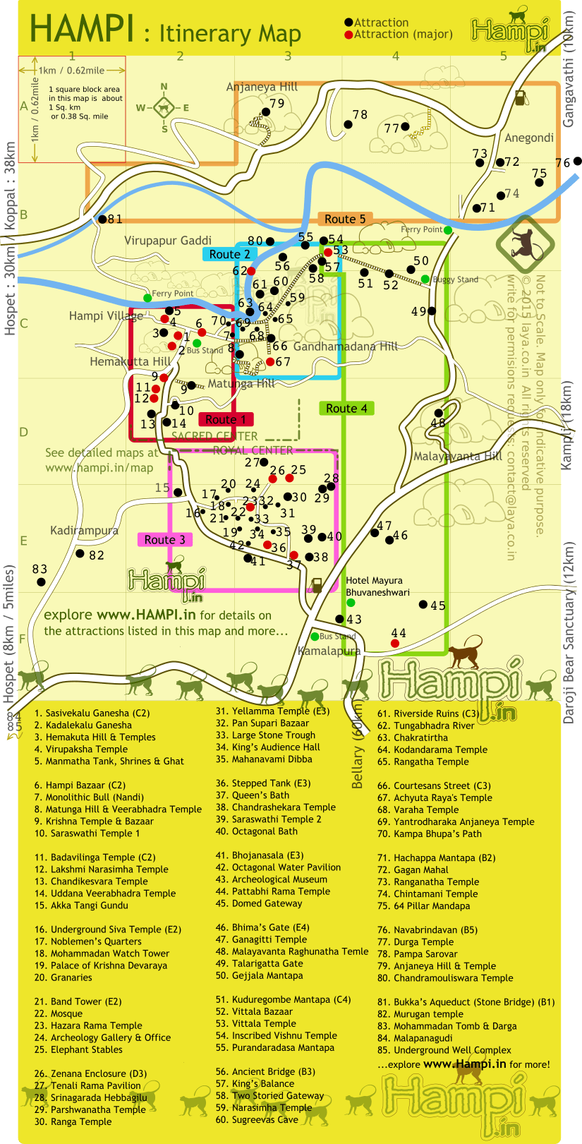 hampi-itinerary-map