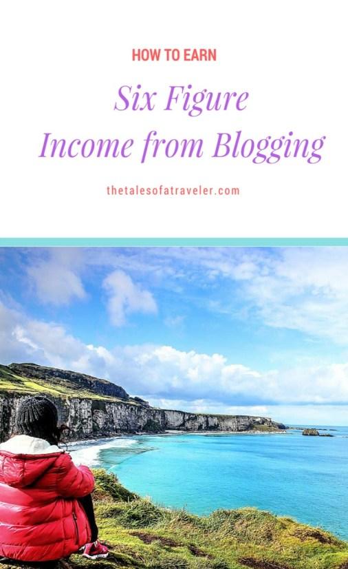 six figure income blogging