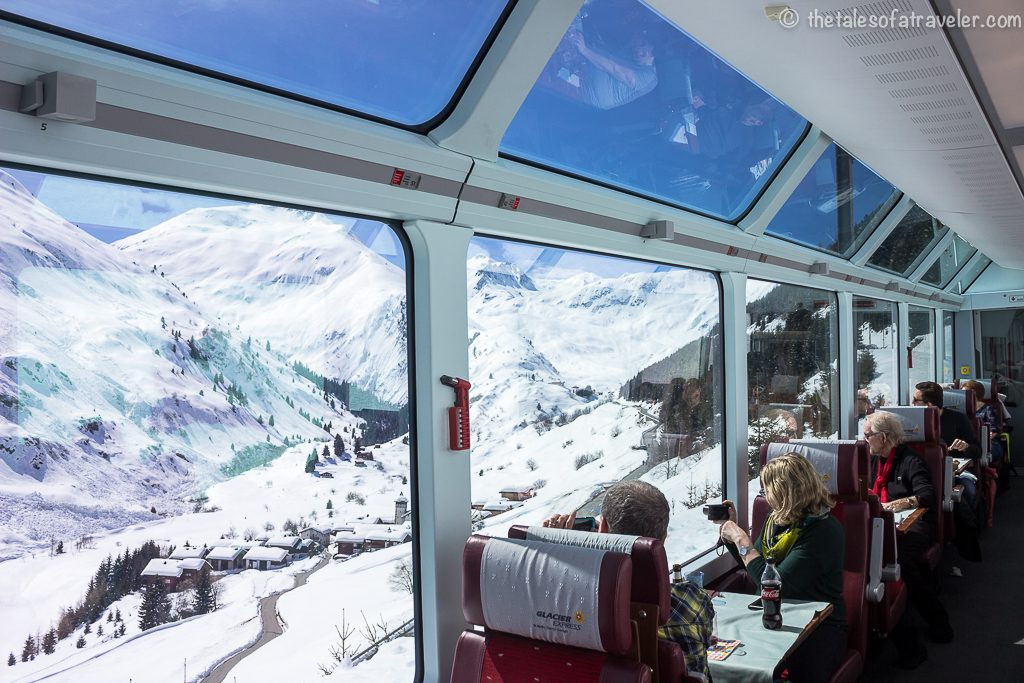 Switzerland Itinerary with Swiss Travel Pass - The Glacier Express Interiors