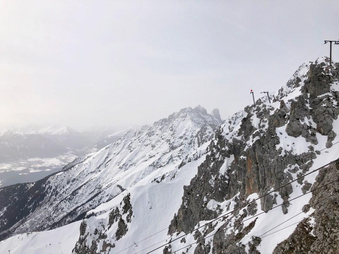 Nordkette Mountain in Winter