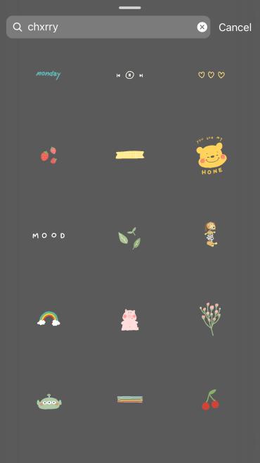CHXRRY - Best Instagram Stickers/ GIF