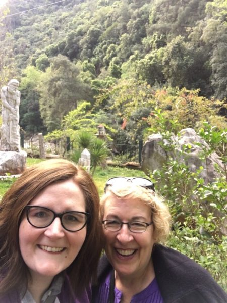 i can't explain how excited we were about all of this green outside of jeita grotto!