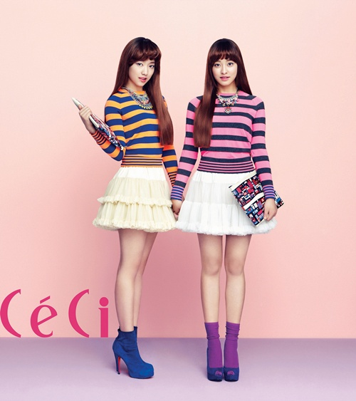 Park Shin Hye And Park Se Young Ceci Feb 2013 The