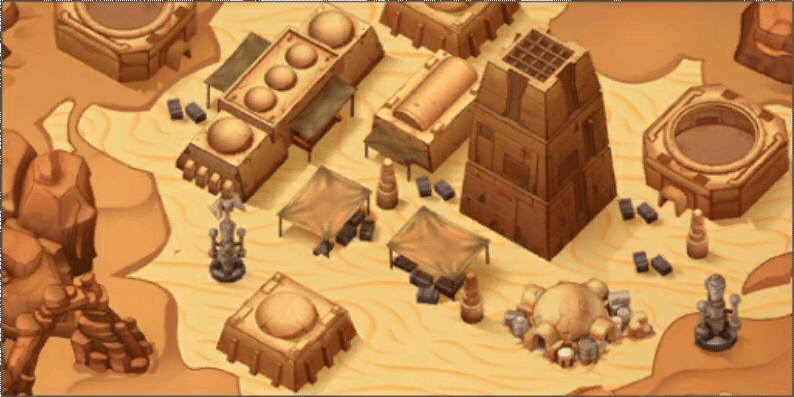 Star Wars: Galactic Defense - Tatooine Scene