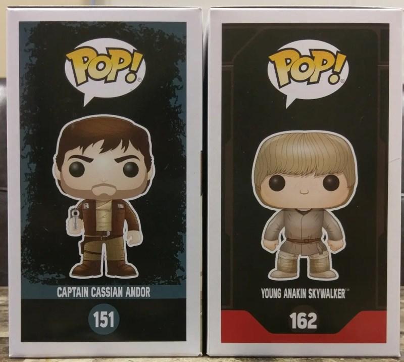 Cassian Andor & Anakin Skywalker Funko Pops