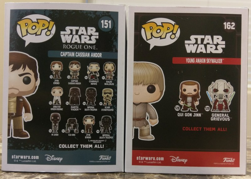Funko Pops are groupped