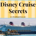 Disney cruise secrets i disney cruise tips and tricks