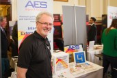 Dave Guice of AES Graphics at his stand at the Leamington Business Show 2018