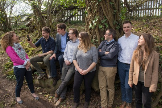 The team The team, having a laugh over some of Sam Hobson's phone photos during the photo shoot. Wharton Natural Infrastructure Consultants, ecologist, arborist, warwickshire, midlands, alcester