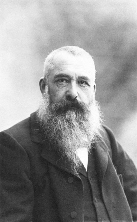 Black and white photograph of Claude Monet in 1899