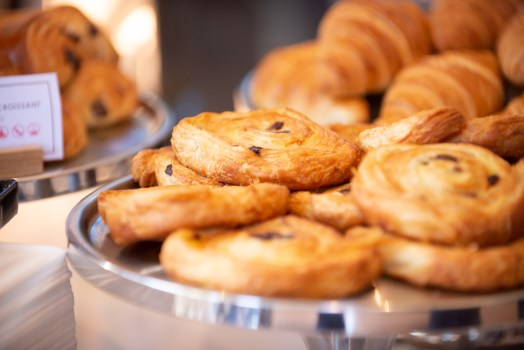 Danish pastries in the Leamington Pump Rooms Cafe by Charlie Budd The Tall Photographer